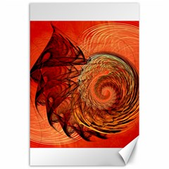 Nautilus Shell Abstract Fractal Canvas 24  X 36  by designworld65