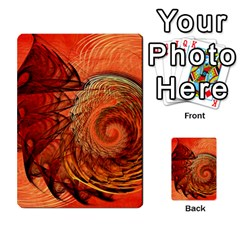 Nautilus Shell Abstract Fractal Multi Purpose Cards (rectangle)  by designworld65