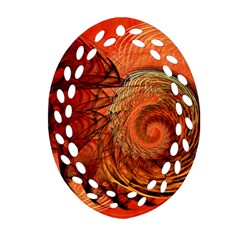 Nautilus Shell Abstract Fractal Ornament (oval Filigree)  by designworld65