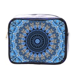 Feel Blue Mandala Mini Toiletries Bags by designworld65