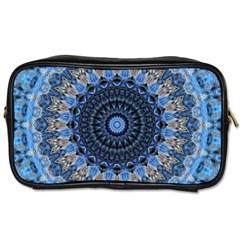 Feel Blue Mandala Toiletries Bags 2 Side by designworld65