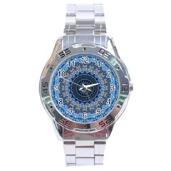 Feel Blue Mandala Stainless Steel Analogue Watch by designworld65