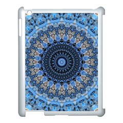 Feel Blue Mandala Apple Ipad 3/4 Case (white) by designworld65