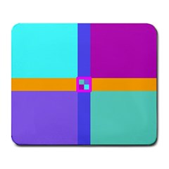 Right Angle Squares Stripes Cross Colored Large Mousepads by EDDArt