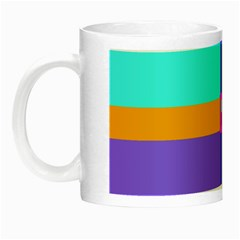 Right Angle Squares Stripes Cross Colored Night Luminous Mugs by EDDArt