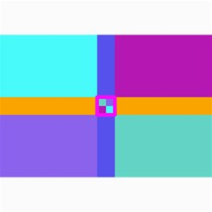 Right Angle Squares Stripes Cross Colored Collage Prints by EDDArt