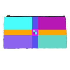 Right Angle Squares Stripes Cross Colored Pencil Cases by EDDArt