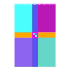 Right Angle Squares Stripes Cross Colored Shower Curtain 48  X 72  (small)  by EDDArt