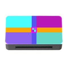 Right Angle Squares Stripes Cross Colored Memory Card Reader With Cf by EDDArt