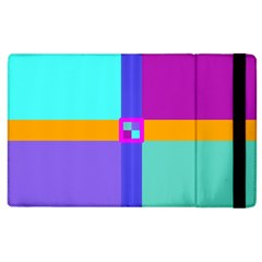 Right Angle Squares Stripes Cross Colored Apple Ipad 3/4 Flip Case by EDDArt