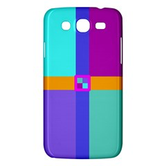 Right Angle Squares Stripes Cross Colored Samsung Galaxy Mega 5 8 I9152 Hardshell Case  by EDDArt