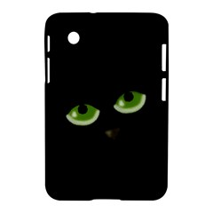 Halloween   Back Cat Samsung Galaxy Tab 2 (7 ) P3100 Hardshell Case  by Valentinaart