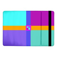 Right Angle Squares Stripes Cross Colored Samsung Galaxy Tab Pro 10 1  Flip Case by EDDArt