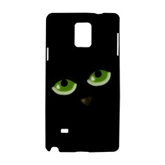Halloween   Back Cat Samsung Galaxy Note 4 Hardshell Case by Valentinaart