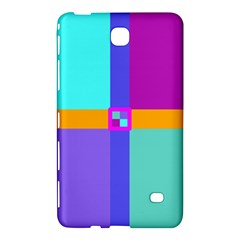 Right Angle Squares Stripes Cross Colored Samsung Galaxy Tab 4 (8 ) Hardshell Case  by EDDArt