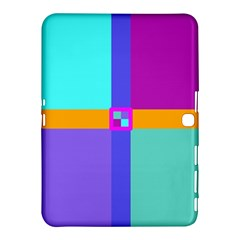 Right Angle Squares Stripes Cross Colored Samsung Galaxy Tab 4 (10 1 ) Hardshell Case  by EDDArt