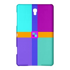 Right Angle Squares Stripes Cross Colored Samsung Galaxy Tab S (8 4 ) Hardshell Case  by EDDArt