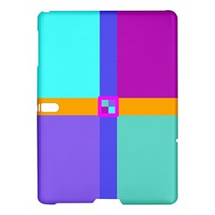 Right Angle Squares Stripes Cross Colored Samsung Galaxy Tab S (10 5 ) Hardshell Case  by EDDArt