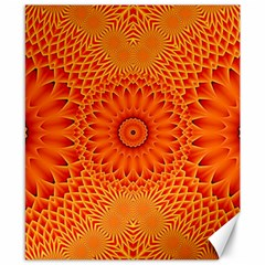 Lotus Fractal Flower Orange Yellow Canvas 8  X 10  by EDDArt