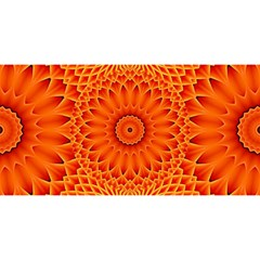 Lotus Fractal Flower Orange Yellow You Are Invited 3d Greeting Card (8x4) by EDDArt