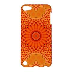Lotus Fractal Flower Orange Yellow Apple Ipod Touch 5 Hardshell Case by EDDArt