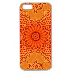 Lotus Fractal Flower Orange Yellow Apple Seamless Iphone 5 Case (clear) by EDDArt