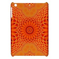 Lotus Fractal Flower Orange Yellow Apple Ipad Mini Hardshell Case by EDDArt