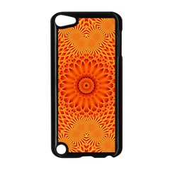 Lotus Fractal Flower Orange Yellow Apple Ipod Touch 5 Case (black) by EDDArt