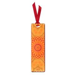 Lotus Fractal Flower Orange Yellow Small Book Marks by EDDArt