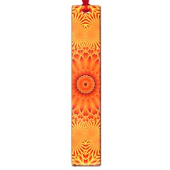 Lotus Fractal Flower Orange Yellow Large Book Marks by EDDArt