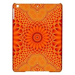 Lotus Fractal Flower Orange Yellow Ipad Air Hardshell Cases by EDDArt