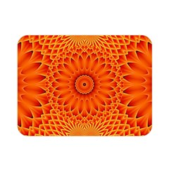 Lotus Fractal Flower Orange Yellow Double Sided Flano Blanket (mini)  by EDDArt