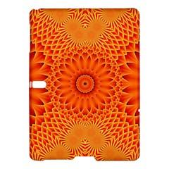 Lotus Fractal Flower Orange Yellow Samsung Galaxy Tab S (10 5 ) Hardshell Case  by EDDArt