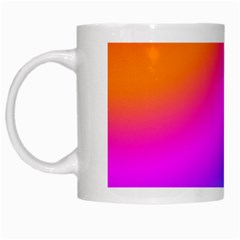 Radial Gradients Red Orange Pink Blue Green White Mugs by EDDArt