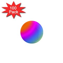 Radial Gradients Red Orange Pink Blue Green 1  Mini Magnets (100 Pack)  by EDDArt