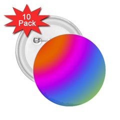 Radial Gradients Red Orange Pink Blue Green 2 25  Buttons (10 Pack)  by EDDArt