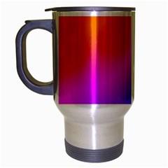 Radial Gradients Red Orange Pink Blue Green Travel Mug (silver Gray) by EDDArt