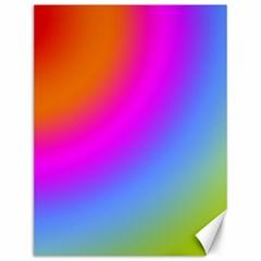 Radial Gradients Red Orange Pink Blue Green Canvas 12  X 16   by EDDArt