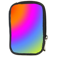 Radial Gradients Red Orange Pink Blue Green Compact Camera Cases by EDDArt