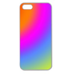 Radial Gradients Red Orange Pink Blue Green Apple Seamless Iphone 5 Case (clear) by EDDArt