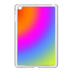 Radial Gradients Red Orange Pink Blue Green Apple Ipad Mini Case (white) by EDDArt
