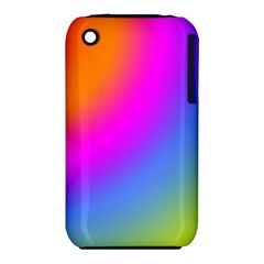 Radial Gradients Red Orange Pink Blue Green Apple Iphone 3g/3gs Hardshell Case (pc+silicone) by EDDArt