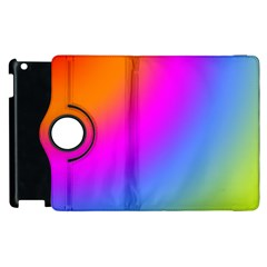 Radial Gradients Red Orange Pink Blue Green Apple Ipad 3/4 Flip 360 Case by EDDArt