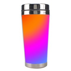 Radial Gradients Red Orange Pink Blue Green Stainless Steel Travel Tumblers by EDDArt