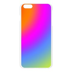 Radial Gradients Red Orange Pink Blue Green Apple Seamless iPhone 6 Plus/6S Plus Case (Transparent) by EDDArt