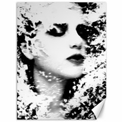 Romantic Dreaming Girl Grunge Black White Canvas 36  X 48   by EDDArt