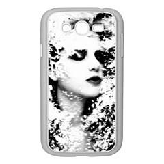 Romantic Dreaming Girl Grunge Black White Samsung Galaxy Grand Duos I9082 Case (white) by EDDArt