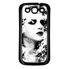 Romantic Dreaming Girl Grunge Black White Samsung Galaxy S3 Back Case (black) by EDDArt