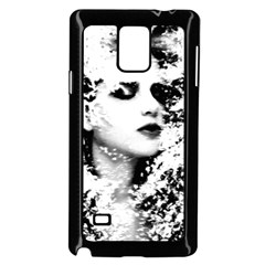 Romantic Dreaming Girl Grunge Black White Samsung Galaxy Note 4 Case (black) by EDDArt