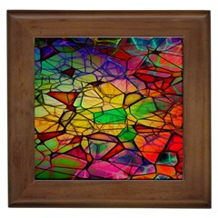Abstract Squares Triangle Polygon Framed Tiles by AnjaniArt